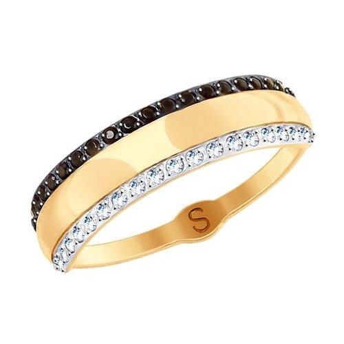 SOKOLOV Кольцо из золота с фианитами 017826, размер 18.5