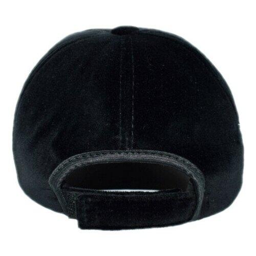 Кепка бейсболка бархатная Grin, черная, женская L