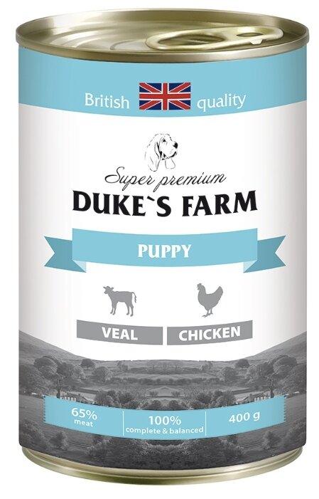 Корм для щенков DUKE'S FARM телятина, курица