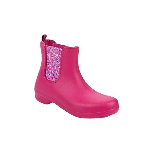 Резиновые полусапоги Crocs Women's Freesail Chelsea Boot, размер 37(W7), розовый