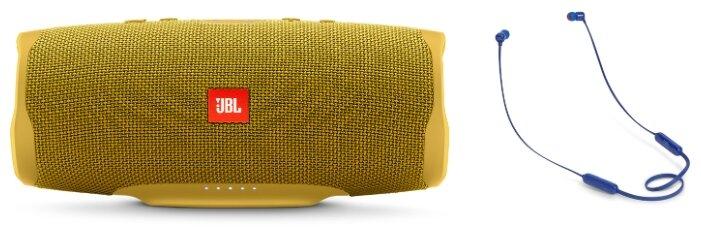 Портативная акустика JBL Charge 4 Sand + наушники T110BT