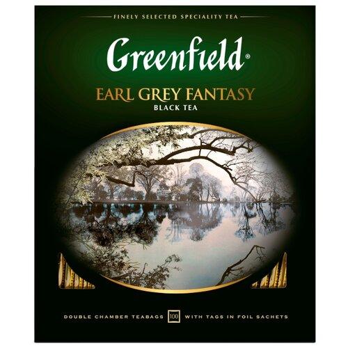 Чай черный Greenfield Earl Grey Fantasy в пакетиках , 100 шт. фото