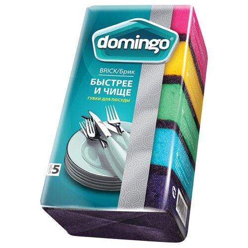 цена на Губка для посуды DOMINGO Брик 5 шт