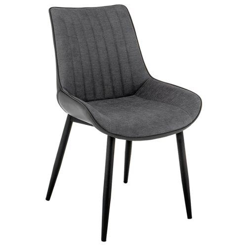 Стул Woodville Seda, металл/текстиль/искусственная кожа, металл, цвет: серый стул woodville dodo металл текстиль цвет синий