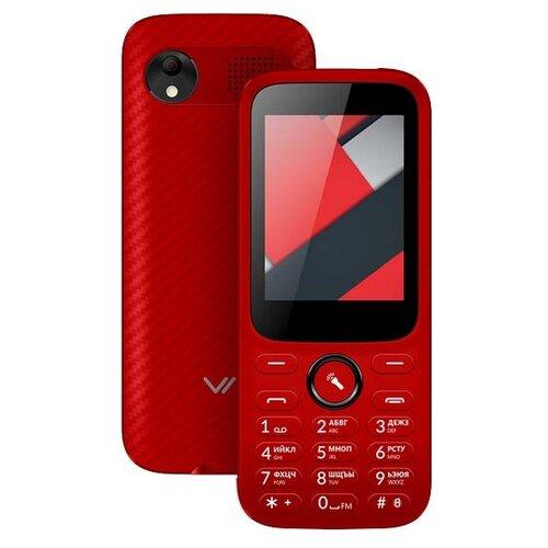Телефон VERTEX D555 красный мобильный телефон vertex d503 жёлтый 2 4