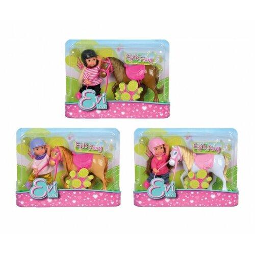 Купить Кукла Simba Еви с пони 12 см 5737464, Куклы и пупсы