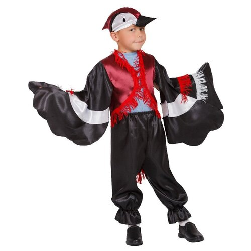 Купить Костюм Elite CLASSIC Дятел, черный, размер 30 (122), Карнавальные костюмы