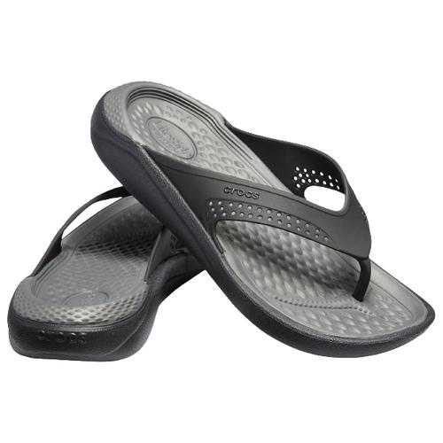 Шлепанцы Crocs LiteRide Flip, размер 44(M11), black/slate grey
