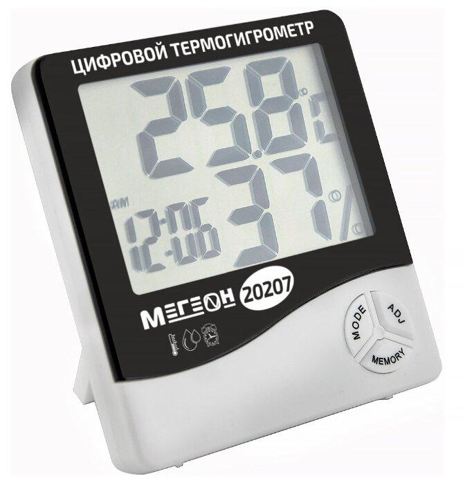 Купить Термогигрометр настольный МЕГЕОН 20207 по низкой цене с доставкой из Яндекс.Маркета (бывший Беру)