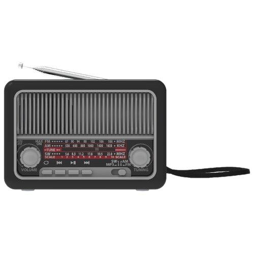 Радиоприемник Ritmix RPR-035 черный/серебристый