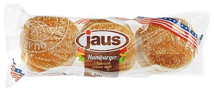 Булочки пшеничные для гамбургеров с кунжутом Jaus (Германия) 6 штук, 300г длительного срока хранения
