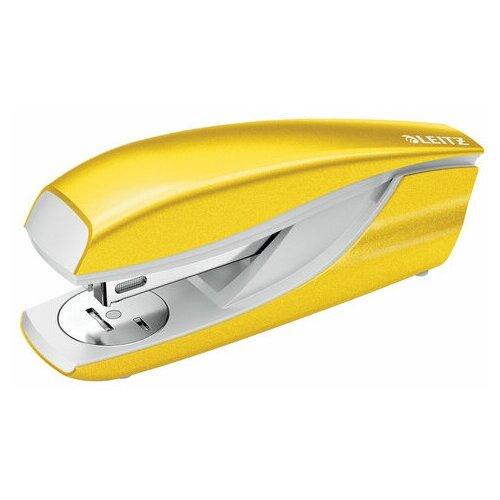 Степлер №24/6, 26/6 металлический LEITZ New NeXXt WOW , до 30 л., желтый металлик, 55022016, 55022044, Степлеры, скобы, антистеплеры  - купить со скидкой