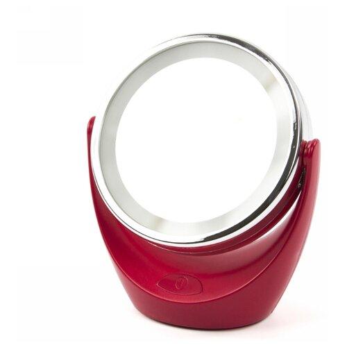 Зеркало косметическое настольное MARTA MT-2648 с подсветкой красный рубин зеркало косметическое настольное marta mt 2653 с подсветкой молочный жемчуг