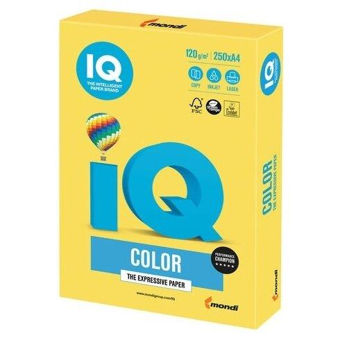 Бумага IQ Color А4 120 г/м² 250 лист. канареечно-желтый CY39