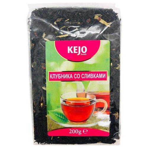 Чай черный Kejo foods Клубника со сливками, 200 г smothered southern foods