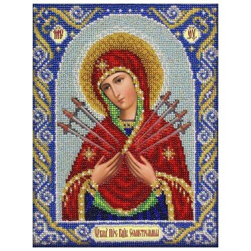 Купить Вышиваем бисером Набор для вышивания бисером Семистрельная икона Божьей Матери 19 х 25 см (L-38), Наборы для вышивания