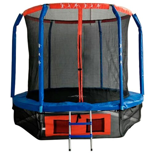 Каркасный батут DFC Jump Basket 5FT-JBSK-B 150х150х196 см синий/красный каркасный батут dfc jump sun 40inch js b 100х100х22 5 см синий
