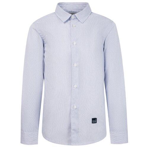 Рубашка Paolo Pecora размер 128, белый/синий футболка paolo pecora размер 128 белый