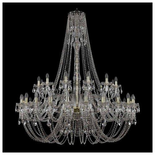 Люстра Bohemia Ivele Crystal 1406 1406/24+12/530/h-164/G, E14, 1440 Вт bohemia ivele crystal 1406 24 12 12 6 530 230 4d g