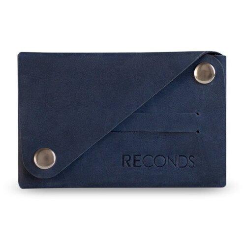Кошелек Reconds Сompact, натуральная кожа синий кошелек reconds reconds mp002xu02f9z