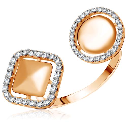 Бронницкий Ювелир Кольцо из красного золота Д0268-017076, размер 17 бронницкий ювелир кольцо из красного золота д0268 017060 размер 17