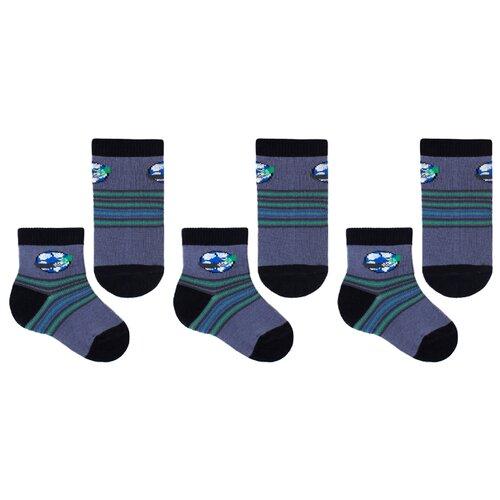 Купить Носки НАШЕ комплект 3 пары размер 20 (18-20), антрацит