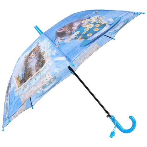 Зонт-трость полуавтомат детский Rain Lucky 920-3 LACN со свистком