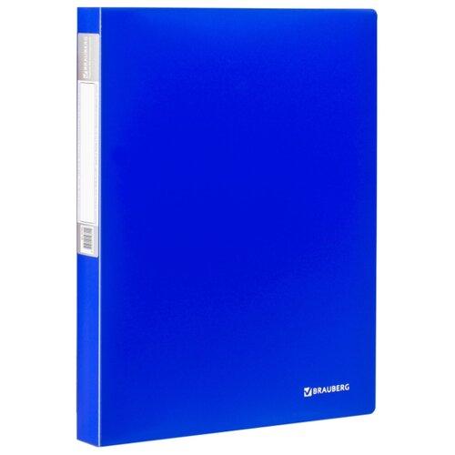 Купить BRAUBERG Папка-дисплей на 40 вкладышей Neon А4, 25 мм Синяя, Файлы и папки