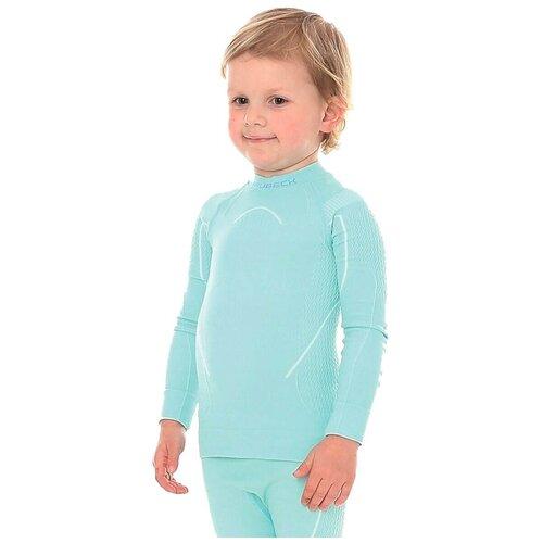 Термобелье детское для девочек Brubeck футболка с длинным рукавом THERMO светло-голубая 104-110