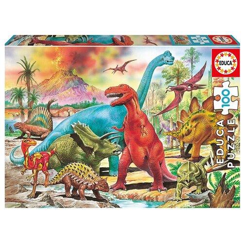 Купить Пазл Educa Динозавры (13179), 100 дет., Пазлы