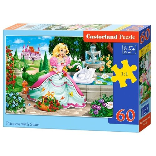 Пазл Castorland Princess with Swan (B-066056), 60 дет. пазл castorland cute kittens b 066087 60 дет