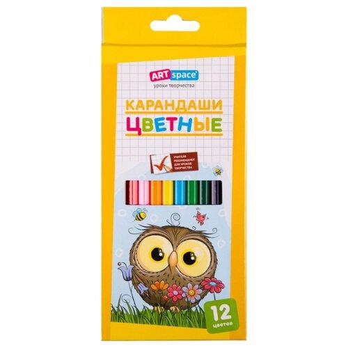 Купить ArtSpace Карандаши цветные Совята 12 цветов (261419), Цветные карандаши