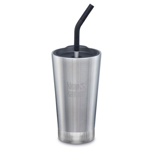 Тамблер Klean Kanteen Vacuum Insulated Tumbler с трубочкой, 0.473 л brushed stainless