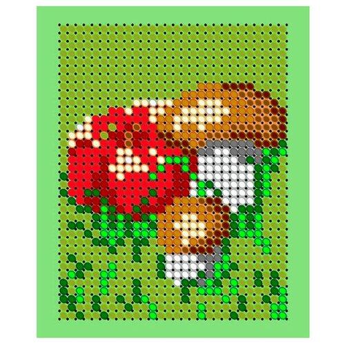 Светлица Набор для вышивания бисером Грибочки и яблочко 6 х 7,5 см, бисер Чехия (ЛК012)