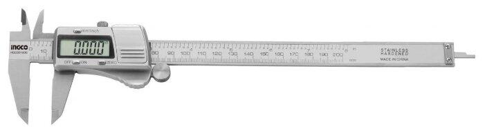 Цифровой штангенциркуль INGCO HDCD01200 200 мм, 0.01 мм