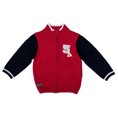 комплект одежды playtoday размер 92 красный белый темно синий Кардиган playToday размер 74, красный/темно-синий
