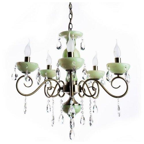Люстра Arte Lamp Onyx Green A9592LM-5AB, E14, 200 Вт потолочная люстра dio d arte cremono e 1 2 24 200 n
