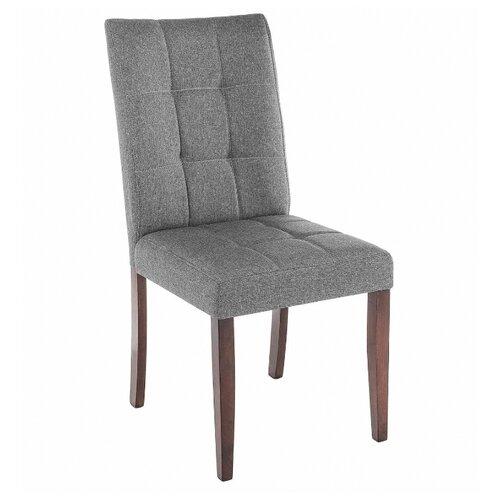 Стул Woodville Madina, дерево/текстиль, цвет: dark walnut/fabric grey стул woodville amelia дерево текстиль цвет white fabric grey