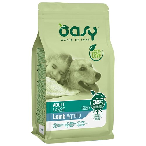 Сухой корм для собак Oasy ягненок 12 кг (для крупных пород) сухой корм для собак barking heads ягненок 12 кг для крупных пород
