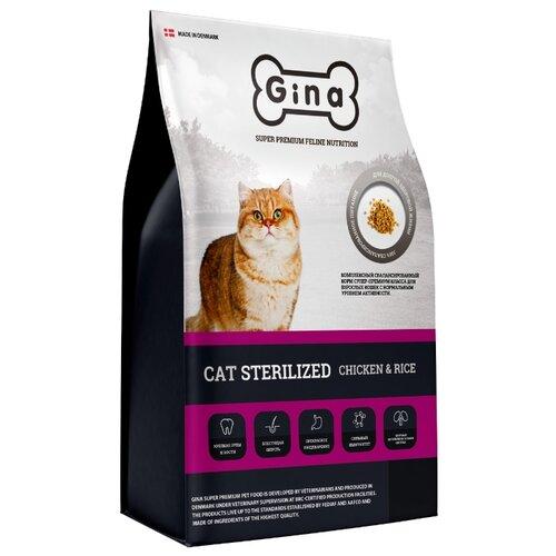 Сухой корм для стерилизованных кошек Gina с курицей, с рисом
