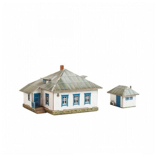 Купить Умная бумага 3D пазл - Сельский дом №1 Строения для железной дороги 1:87 35 деталей (494), Умная Бумага, Пазлы