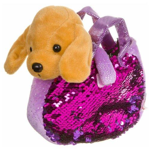 Мягкая игрушка Bondibon Милота Лабрадор в сумочке 19 см