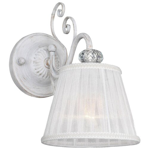 Настенный светильник F-Promo Amanda 2150-1W, E14, 40 Вт, кол-во ламп: 1 шт., цвет арматуры: белый, цвет плафона: белый настенный светильник f promo romani 2198 1w 40 вт