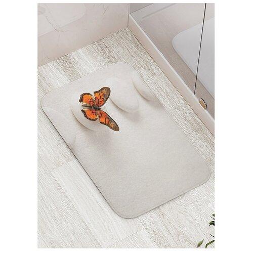 Фото - Коврик противоскользящий JoyArty Прыгучая бабочка для ванной, сауны, бассейна, 77х52 см штора для ванной joyarty прыгучая бабочка 180х200 sc 16368