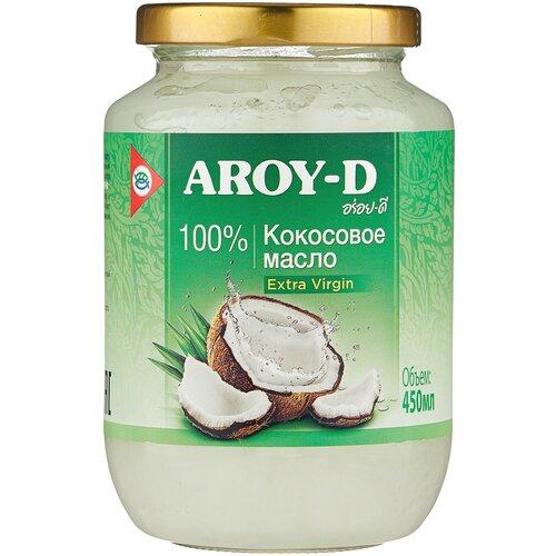 Фото - Aroy-D масло 100% кокосовое (extra virgin), 0.45 л aroy d масло 100% кокосовое extra virgin 0 18 л