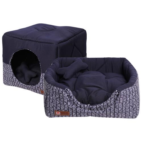 Лежак для собак и кошек Зоогурман Домосед 45х45х45 см синий