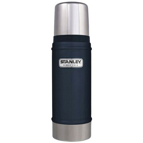 Классический термос STANLEY Classic Vacuum Insulated Bottle, 0.47 л темно-синий