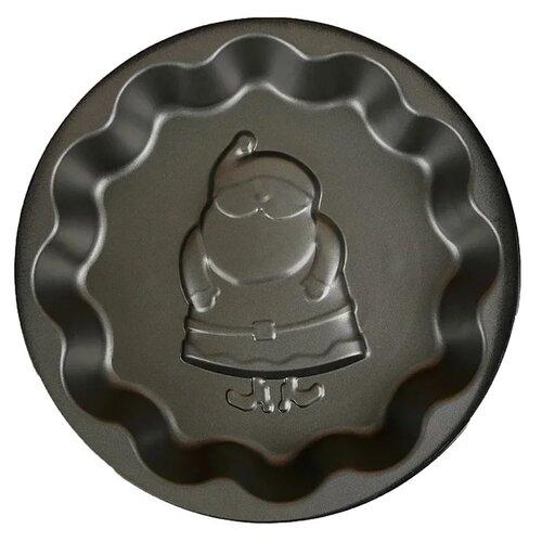 Фото - Форма для выпечки Доляна Волнистый круг. Дед мороз, 25 см форма для выпечки доляна жаклин круг 2803201 31 6х21 8х3 5 см