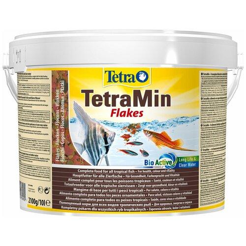 Фото - Сухой корм для рыб Tetra TetraMin flakes 10000 мл сухой корм для рыб tetra tetramin xl flakes 1000 мл