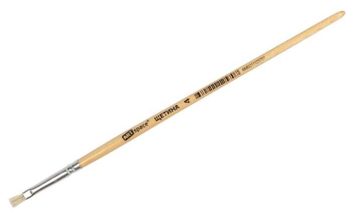 Кисть ArtSpace щетина, №4, плоская, короткая ручка